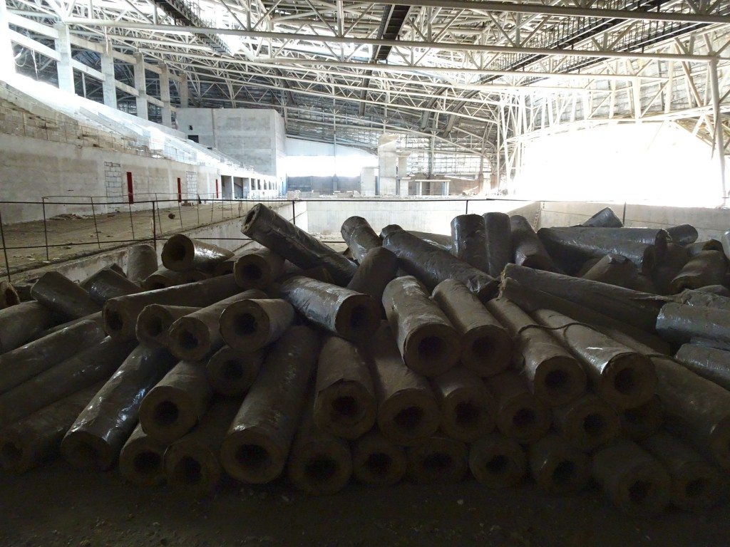 Rolls of roof isolation, Sport Center, Jan 2016