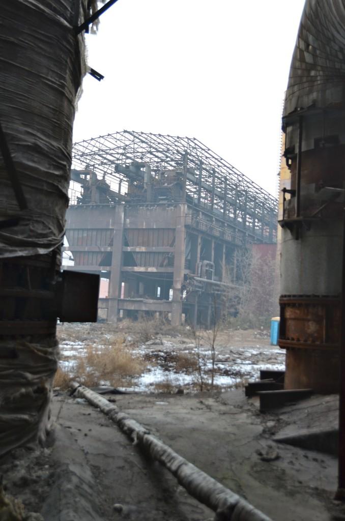 Strange building, Shougang, Jan 2016