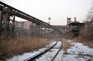 Inner factory railway, Shougang, Jan 2016