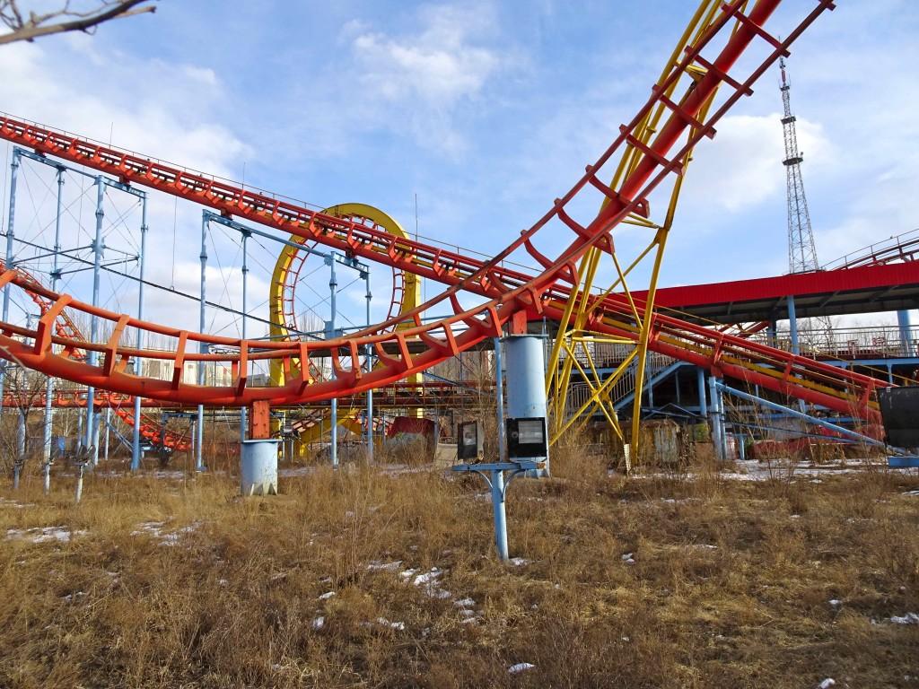broken rollercoaster